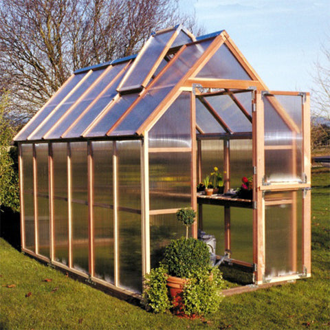 Sunshine Gardenhouse Mt. Hood Greenhouse 6X12 ft - GreenhouseTalk - 1