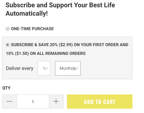 Subscribe and Save checkout button for mauricettes