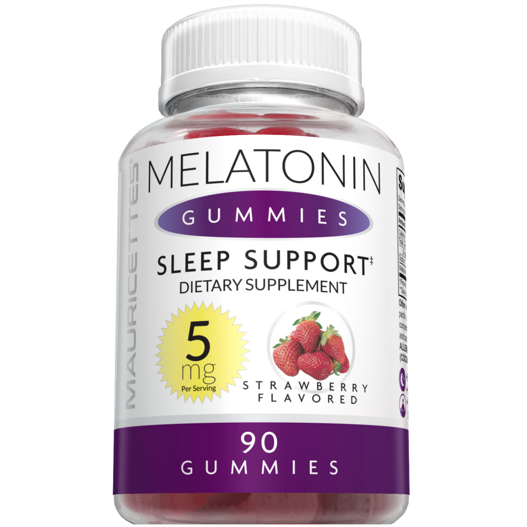 Mauricettes Gummies Melatonin- 5mg Per Serving- Strawberry Flavor