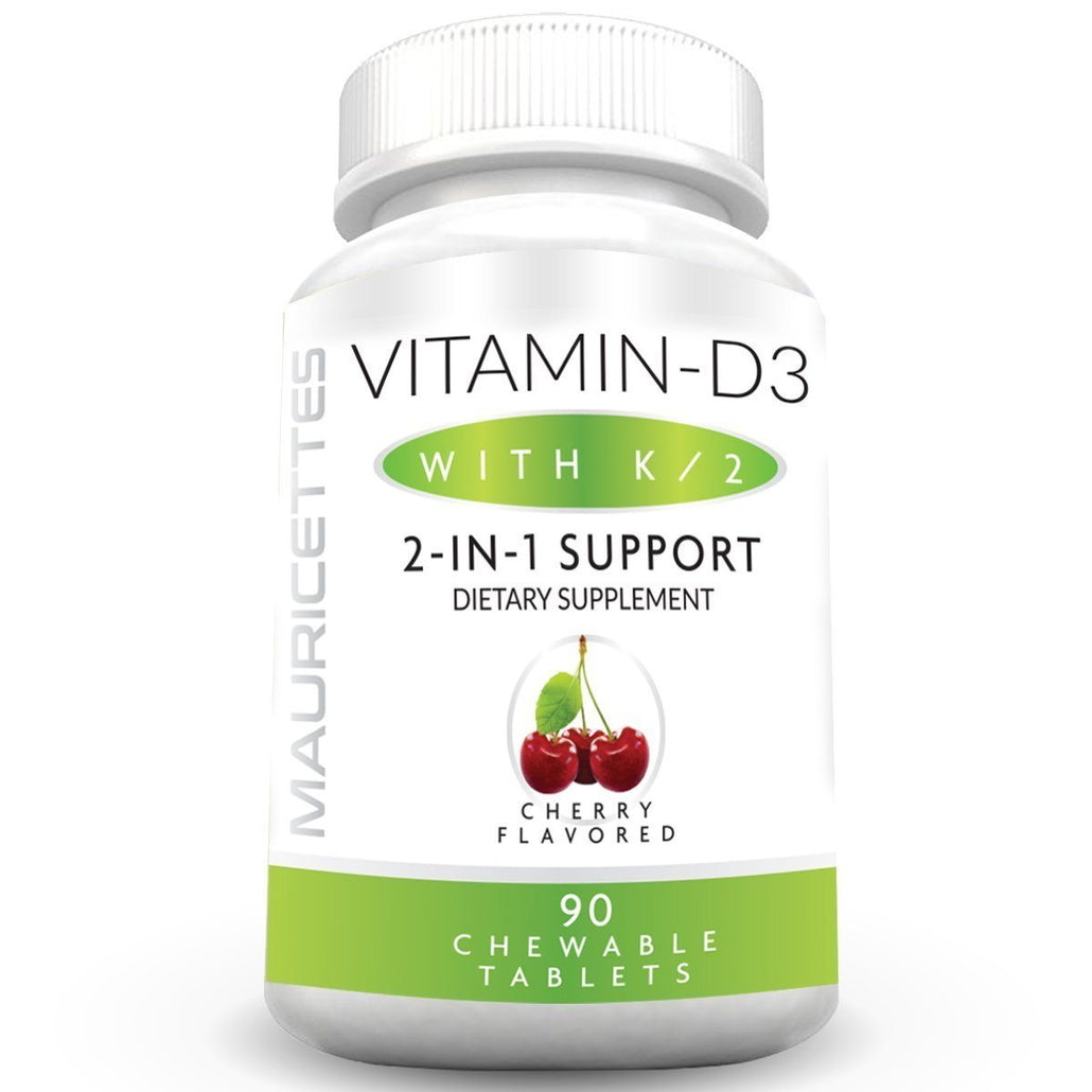 Chewable Vitamin D3 with K2- Cherry Flavor