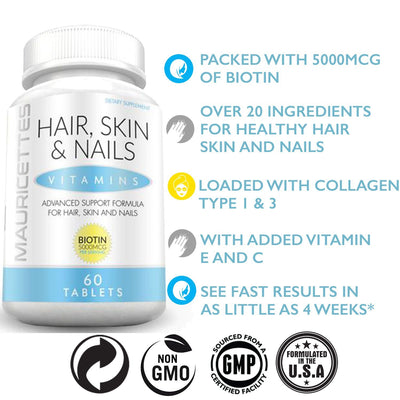 Mauricettes Hair Skin and Nails Vitamins