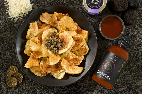 TRUFFLIN CHIPS with BLACK TRUFFLE SRIRACHA