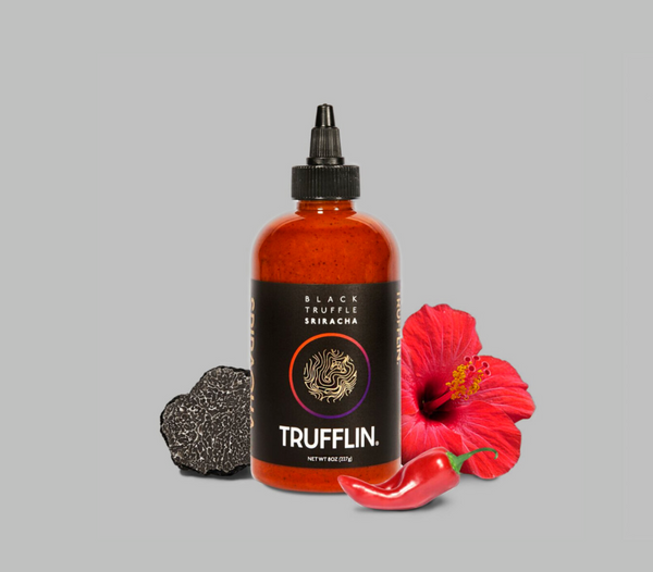 Trufflin VIP Set - Black Truffle Oil, Sriracha, Gourmet Salt, Raw Provencal Honey