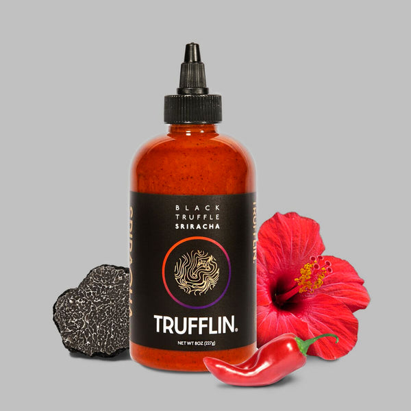 TRUFFLIN® Black Truffle Infused Sriracha Hot Sauce 8.5oz w/ Free Gift Bag