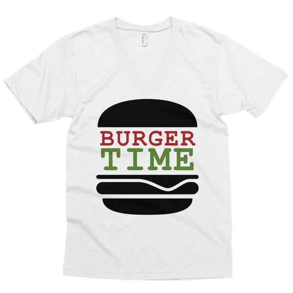 Burger Time V-Neck Shirt