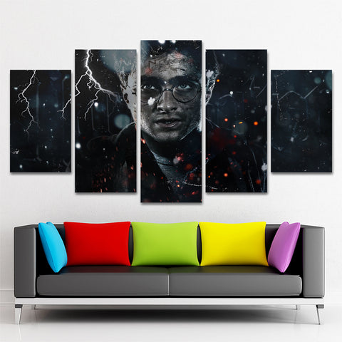HARRY POTTER 5 PIECE CANVAS 121103