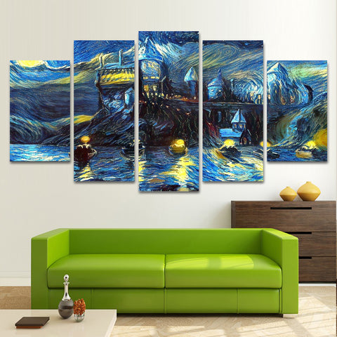 HARRY POTTER 5 PIECE CANVAS 010301