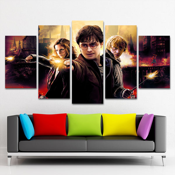 harry potter 5 piece canvas 121801