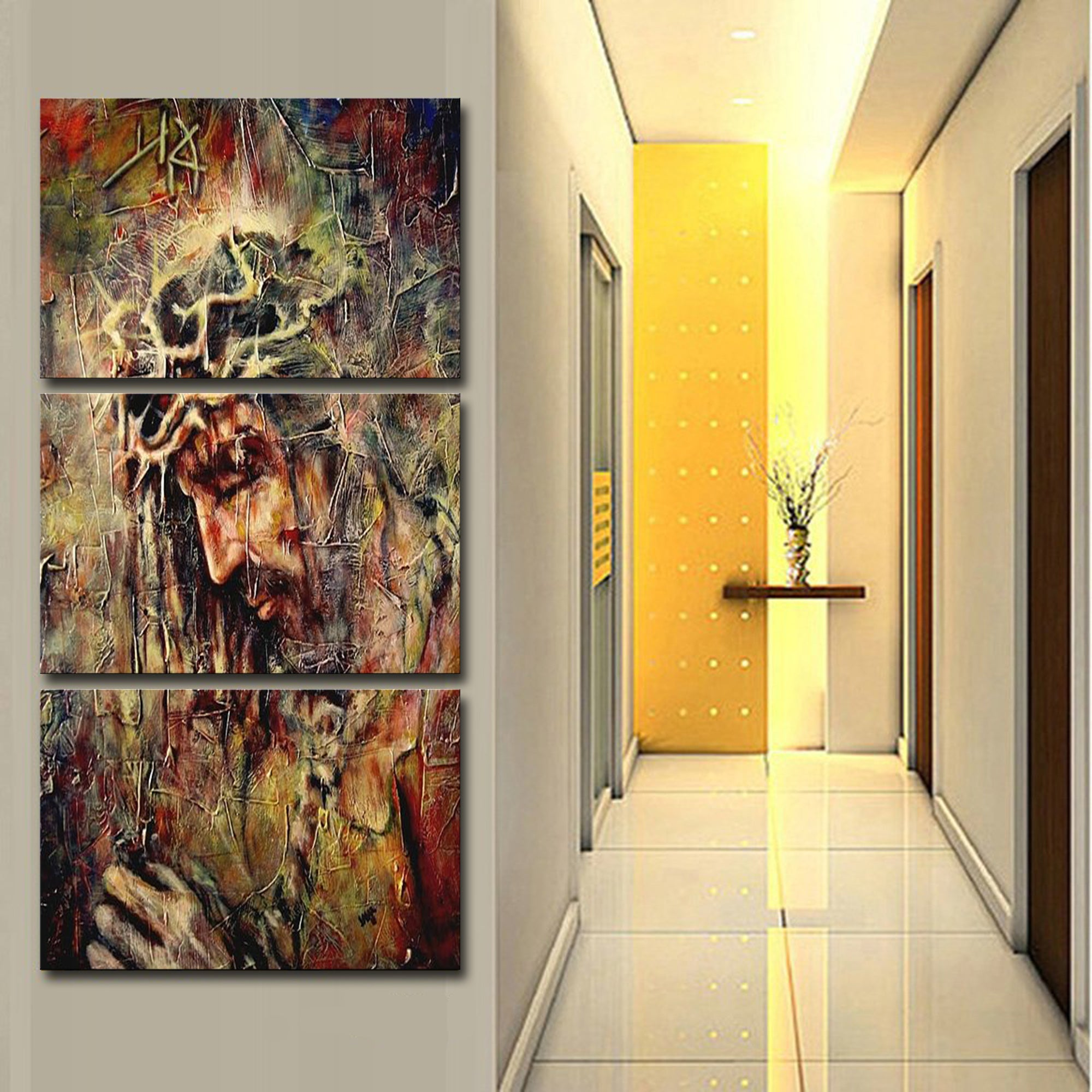 JESUS 3 PIECE CANVAS D 020502 | ligitoch