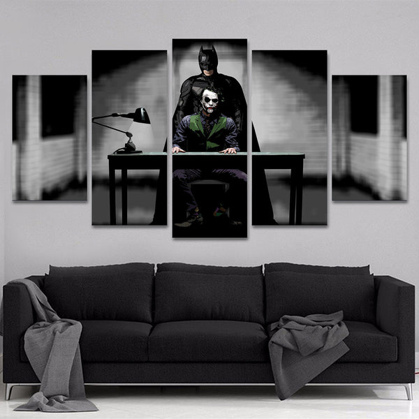 batman joker 5 piece canvas 122108