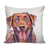 Chocolate Labrador Retriever Pillow Cover