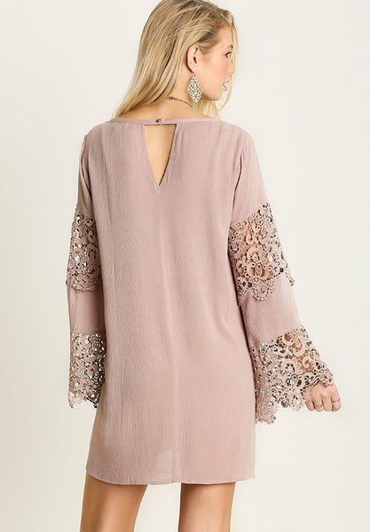 Bell Sleeve Lace Dress - Dresses - MadeModern