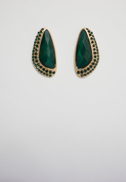 Denver Green Stud Earrings - Accessories - MadeModern