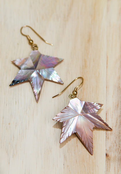 Fall Leaf Natural Shell Earrings - Accessories - MadeModern