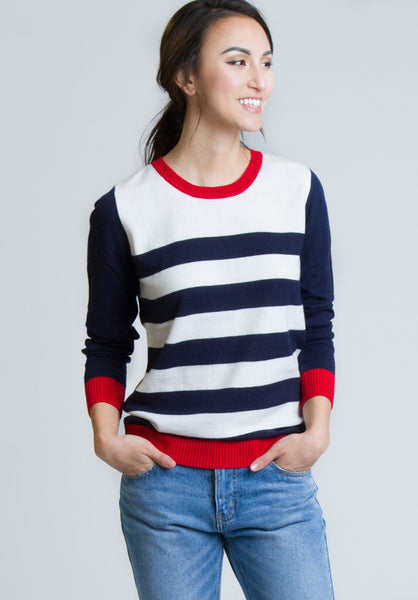 Always Sunday Striped Sweater - Sweater - MadeModern