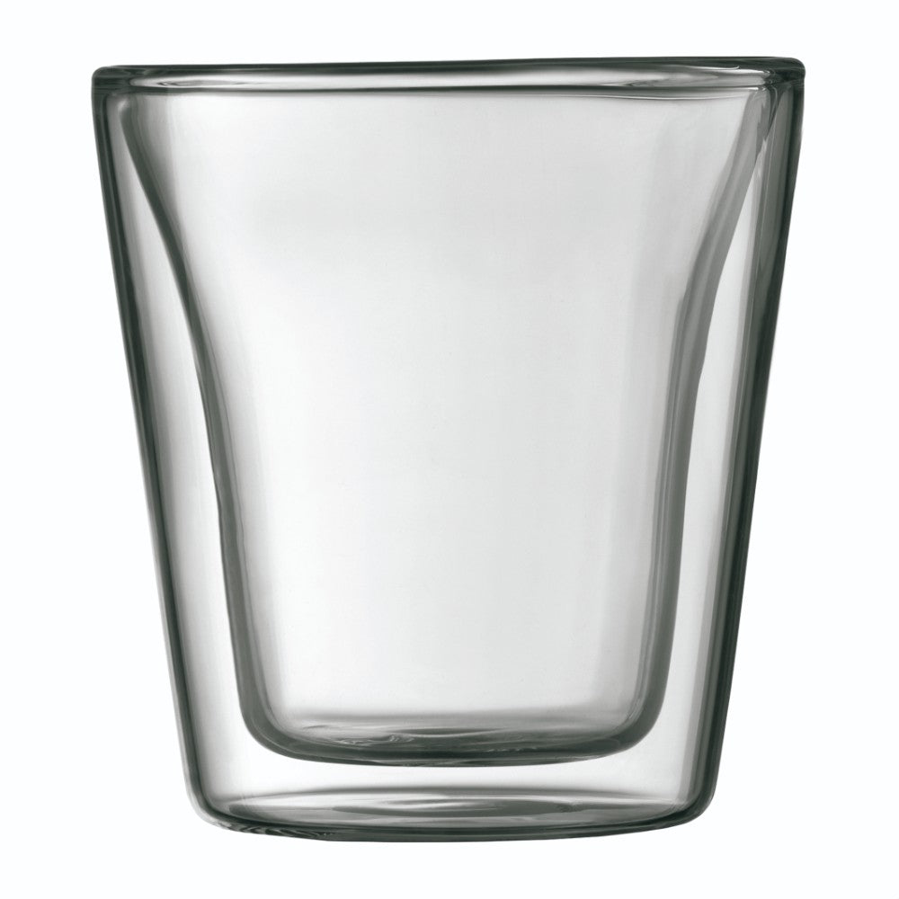 Canteen 2pcs. Double Wall Glass 3oz