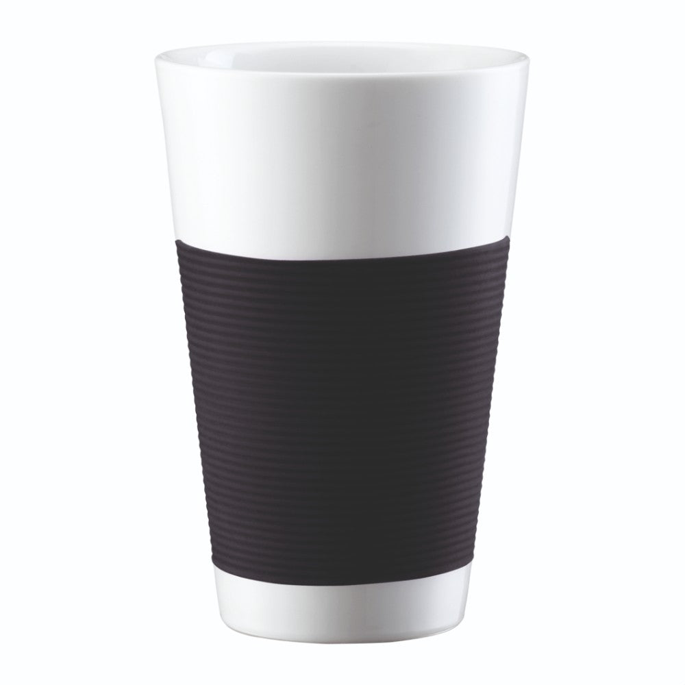 Canteen (2pcs) Double Wall Cup Porcelain with Silicone Sleeve 12oz