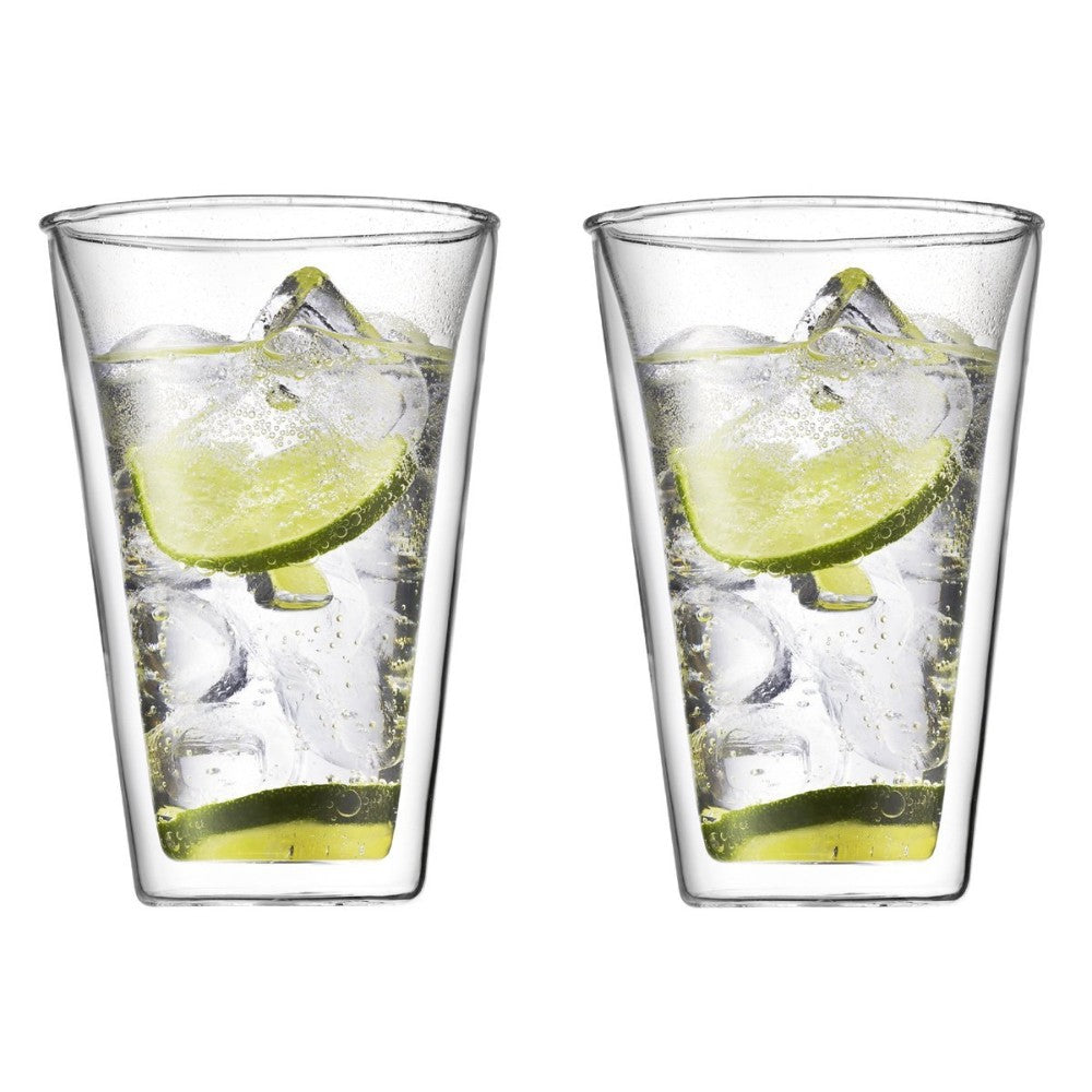 Canteen (2pcs) Double Wall Glass 13.5oz