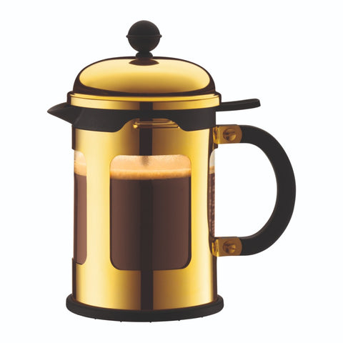 Chambord French Press Coffee Maker 17oz, Gold