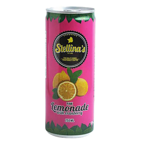 Stellina's Old Fashioned Pink Lemonade in Can 250ml
