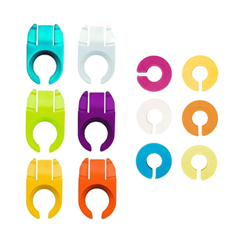Ibili 6 Glass Id Rings + 6 Plate Clips