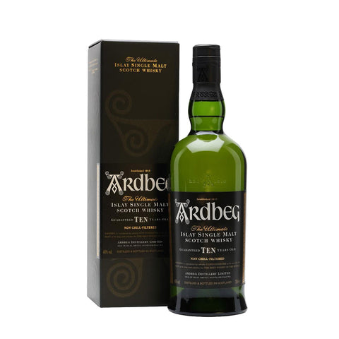 Ardbeg 10 Years Islay Single Malt Scotch Whisky - <i>700ml</i> Whiskey - Drinkka Alcohol Delivery Best Whiskey Gin Beer Vodkas and more in Makati and Manila | Bevtools Bar and Beverage Tools