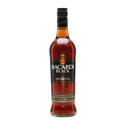 Bacardi Black Rum -750ml Rum - Drinkka Alcohol Delivery Best Whiskey Wine Gin Beer Vodkas and more for Parties in Makati BGC Fort and Manila | Bevtools Bar and Beverage Tools