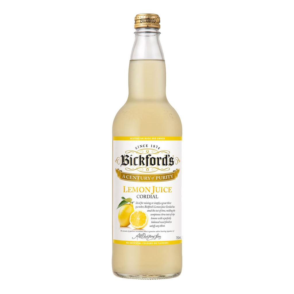 Bickford's Lemon Juice Cordial - 750ml Cordial - Drinkka Alcohol Delivery Best Whiskey Wine Gin Beer Vodkas and more for Parties in Makati BGC Fort and Manila | Bevtools Bar and Beverage Tools