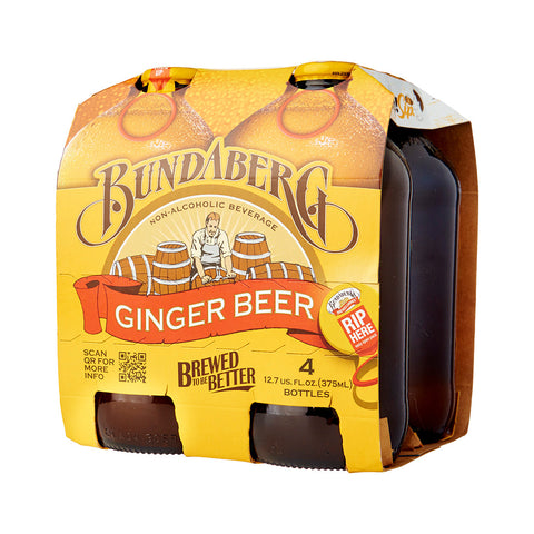 Bundaberg Ginger Beer 375ml (4 Pack) Imported Beer - Drinkka Alcohol Delivery Best Whiskey Wine Gin Beer Vodkas and more for Parties in Makati BGC Fort and Manila | Bevtools Bar and Beverage Tools