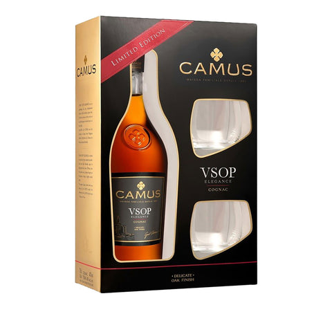 Camus VSOP w/Glasses -700ml Cognac & Brandy - Drinkka Alcohol Delivery Best Whiskey Wine Gin Beer Vodkas and more for Parties in Makati BGC Fort and Manila | Bevtools Bar and Beverage Tools