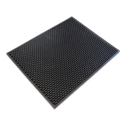 "Rubber Bar Spill Mats - Large (12""x18"") Bar Accessories - Bevtools Bar and Beverage Tools 