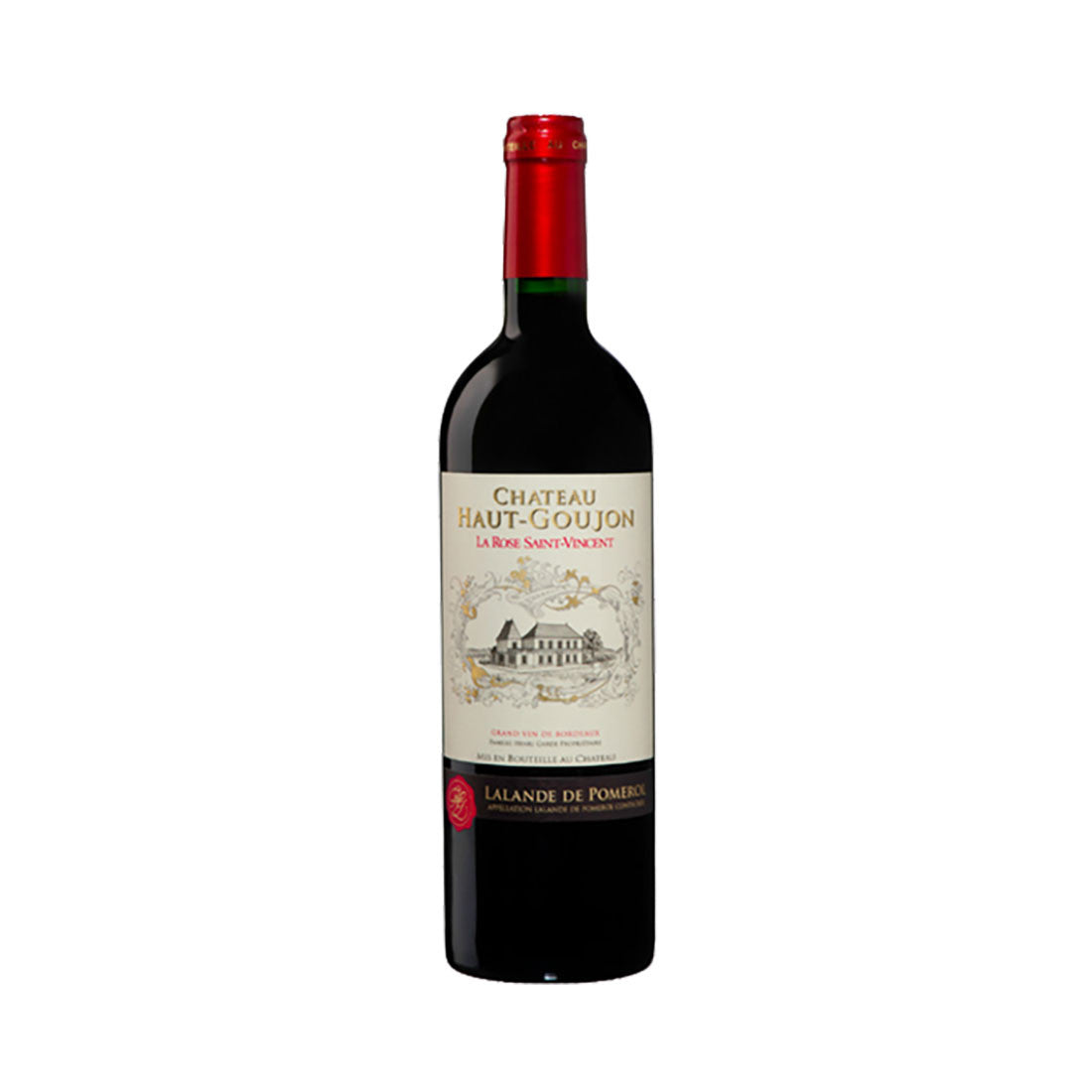 Chateau Haut Goujon Merlot la Rose Saint Vincent - 750ml Red Wine - Drinkka Alcohol Delivery Best Whiskey Wine Gin Beer Vodkas and more for Parties in Makati BGC Fort and Manila | Bevtools Bar and Beverage Tools