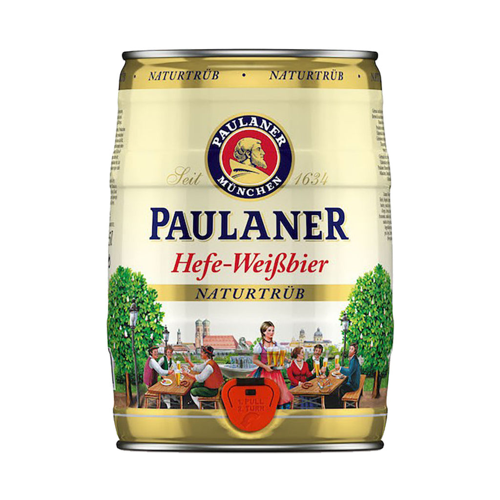 Paulaner Hefe Weisbier Party Keg - 5 liters Beer Keg - Drinkka Alcohol Delivery Best Whiskey Wine Gin Beer Vodkas and more for Parties in Makati BGC Fort and Manila | Bevtools Bar and Beverage Tools