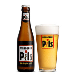 Manneken Pils Belgian Beer - 250ml (2 bottles)