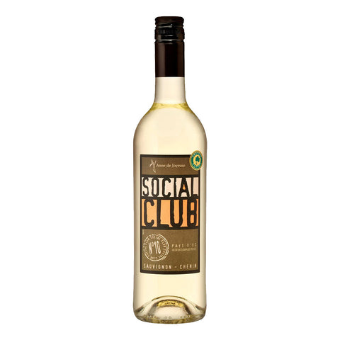 Anne de Joyeuse Social Club Blanc Wine - 750ml White Wine - Drinkka Alcohol Delivery Best Whiskey Wine Gin Beer Vodkas and more for Parties in Makati BGC Fort and Manila | Bevtools Bar and Beverage Tools