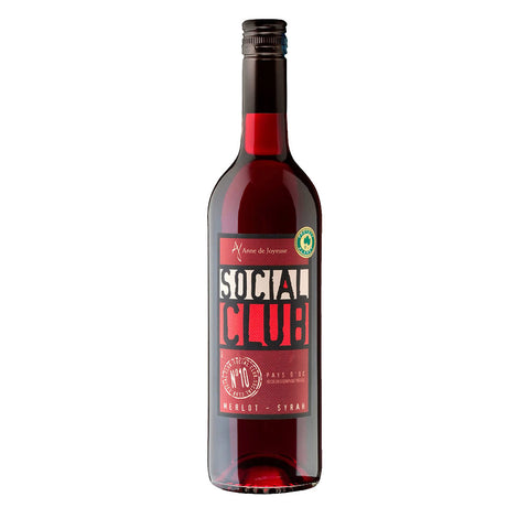 Anne de Joyeuse Social Club Rouge Red Wine - 750ml Red Wine - Drinkka Alcohol Delivery Best Whiskey Wine Gin Beer Vodkas and more for Parties in Makati BGC Fort and Manila | Bevtools Bar and Beverage Tools