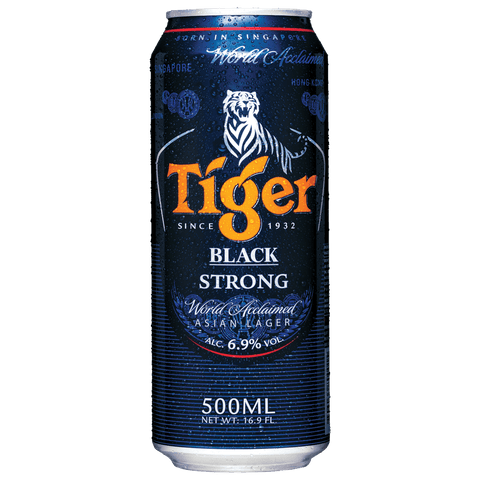 Tiger Black 500ml Cans (6 Pack)