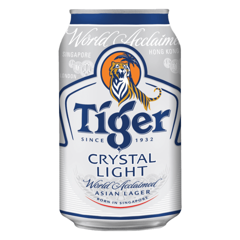 Tiger Crystal 330ml Cans (6 Pack)
