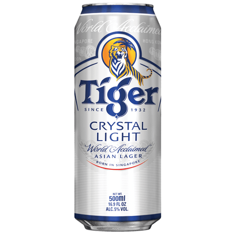 Tiger Crystal 500ml Cans (6 Pack)