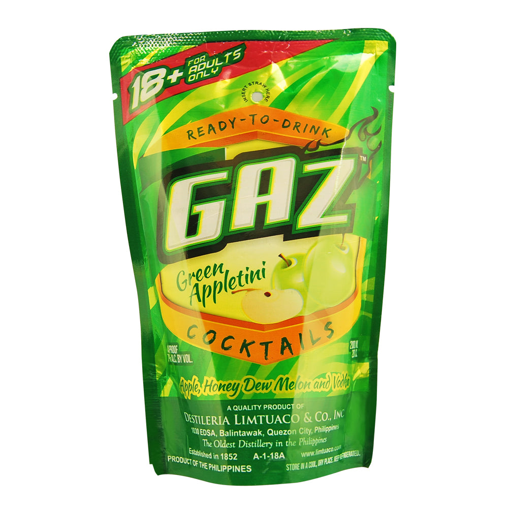 Gaz RTD Cocktail Green Appletini -200ml