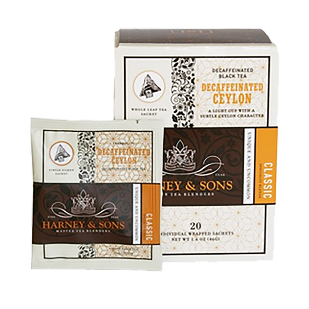 Harney & Sons Decaf Ceylon Wrapped Sachets 20 pcs.