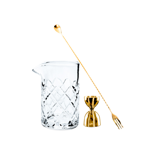 Kosa Mixing Glass Bundle Gold