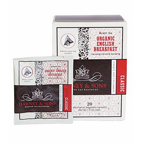 Harney & Sons Organic English Breakfast Wrapped Sachets 20 pcs.