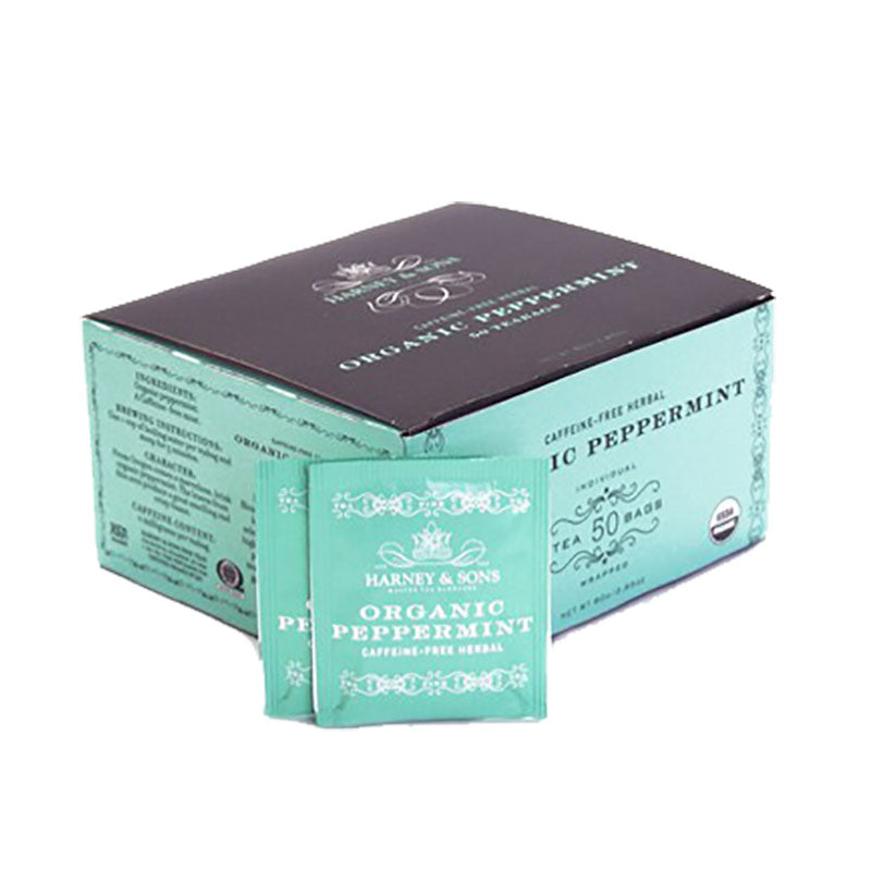 Harney & Sons Organic Peppermint Tea Bags 50 pcs.