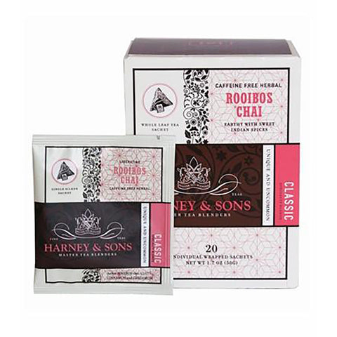 Harney & Sons Rooibos Chai Wrapped Sachets 20 pcs.