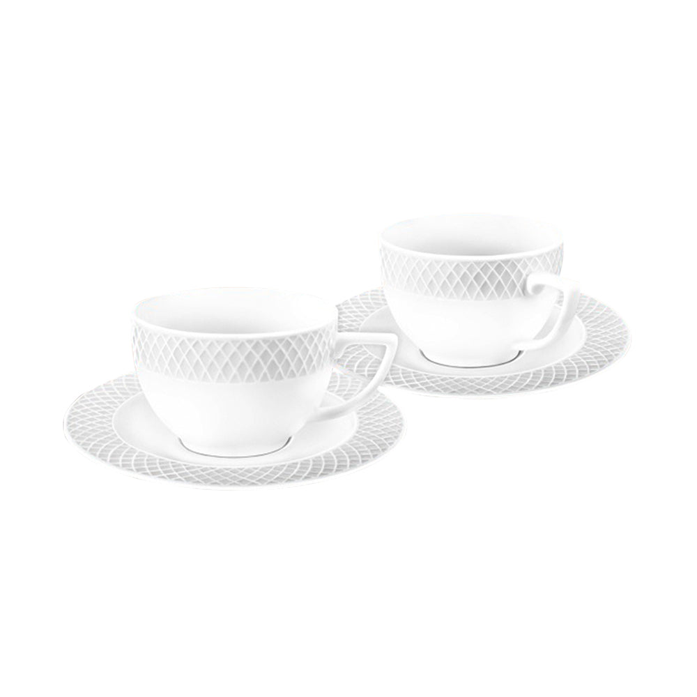 WILMAX CAPPUCCINO CUP & SAUCER 6 OZ | 170ML SET OF 6 BOX