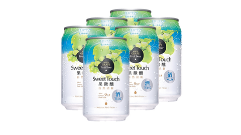 Taiwan Fruit Beer White Grape-330ml Pack of 6