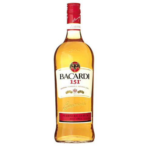 Bacardi 151 Rum - 750ml Rum - Drinkka Alcohol Delivery Best Whiskey Wine Gin Beer Vodkas and more for Parties in Makati BGC Fort and Manila | Bevtools Bar and Beverage Tools