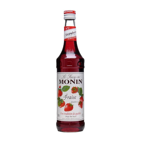 Monin Strawberry Syrup -1000ml Syrups - Drinkka Alcohol Delivery Best Whiskey Wine Gin Beer Vodkas and more for Parties in Makati BGC Fort and Manila | Bevtools Bar and Beverage Tools