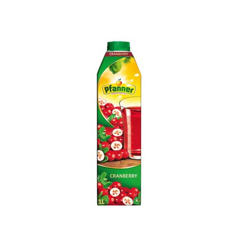 Pfanner Cranberry Fruit Juice - 1000ml Juices - Drinkka Alcohol Delivery Best Whiskey Wine Gin Beer Vodkas and more for Parties in Makati BGC Fort and Manila | Bevtools Bar and Beverage Tools